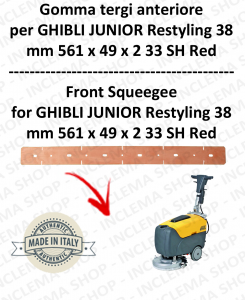 JUNIOR 38 RESTYLING GOMMA TERGI anteriore per lavapavimenti  GHIBLI