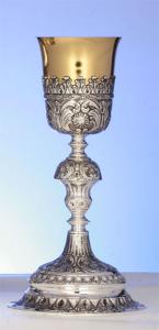 Calice Barocco interamente in Argento massiccio