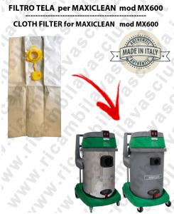 SACCHETTI CARTA litri 19 con tappo per ASPIRAPOLVERE MAXICLEAN mod MX 600 conf. 10 pezzi - aspirapolvere SYNCLEAN