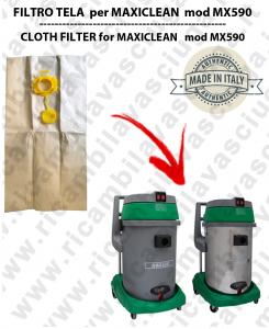 SACCHETTI CARTA  litri 19 con tappo per ASPIRAPOLVERE MAXICLEAN mod MX 590 conf. 10 pezzi - aspirapolvere SYNCLEAN