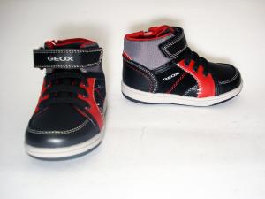Sneaker nero/rossa Geox