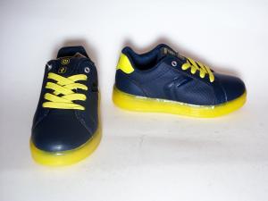 Sneaker navy/lime o royal/silver Geox