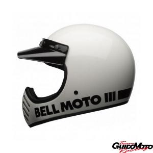 Casco cross BELL MOTO-3 Classic bianco Tg. L