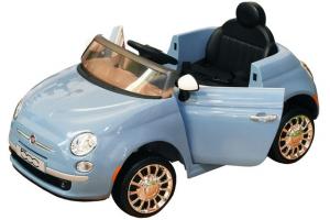 AUTO ELETTRICA FIAT 500 12V C/TELECOMANDO AZZURRA 38352 GLOBO
