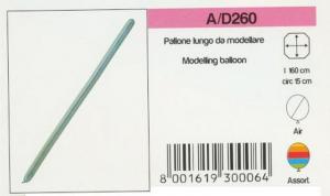 PALL. LUNGO DA MODELLARE (BUSTA 100PZ) A-D260 PEGASO new