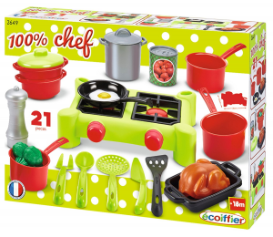 100% Chef Set stoviglie da cucina con fornello 21 pz 7600002649 SIMBA NEW