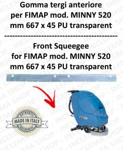 MINNY 520 Gomma tergipavimento anteriore per lavapavimenti FIMAP