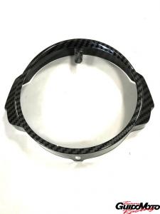 Cornice fanale anteriore carbon look Vespa PX/PE Arcobaleno