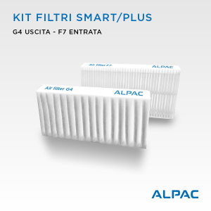 Kit ricambio filtri per Alpac VMC Smart e Plus - Climapac VMC Inside Smart e Plus