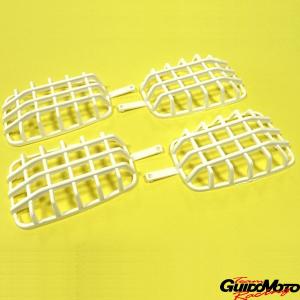 Griglie para sassi per frecce moto Gilera e Malaguti Fifty, bianche