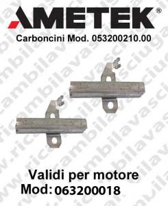 COPPIA di Carboncini Motore aspirazione per motori Ametek  063200018 -  2 x Cod: 053200210.00