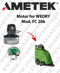 FC 20b Motore aspirazione LAMB AMETEK per lavapavimenti WEDRY