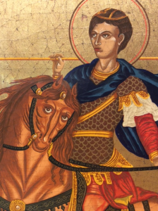 Icona serigrafata San Demetrio 30x25 cm
