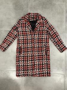 Cappotto donna in  tricot di lana colorato, foderato | TG S,M, L