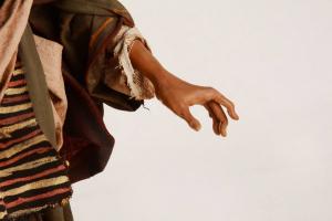 San Giuseppe Presepe Siciliano Angela Tripi 40 cm Terracotta e Stoffa
