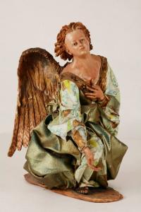 Angelo Presepe Siciliano Angela Tripi 40 cm Stoffa e Terracotta