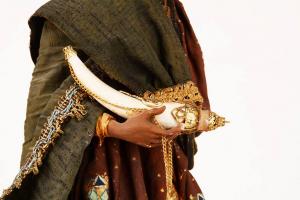 Re Magio Moro Presepe Siciliano Angela Tripi 40 cm Terracotta e Stoffa
