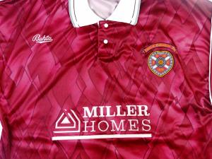 1990-91 Hearts Maglia Home L