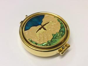 Teca eucaristica con disegno smaltato CAL1800