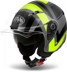 CASCO MOTO AIROH JET CITY ONE WRAP YELLOW MATT COWR31