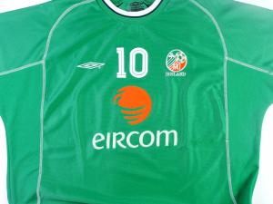 2001-03 Irlanda Maglia Home #10 Keane XL (Top)