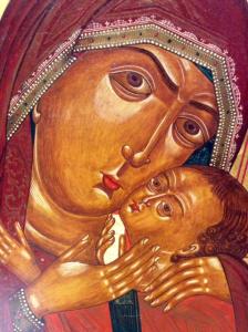 Icona Vergine di Korsun 31 x 26 cm