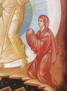 Icona rumena dipinta Discesa agli Inferi 21,5 x 31 cm