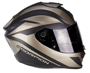 CASCO MOTO INTEGRALE SCORPION EXO-1400 AIR FREEWAY NERO OPACO-TITANIUM