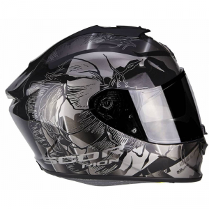 CASCO MOTO INTEGRALE SCORPION EXO-1400 AIR PATCH BLACK SILVER