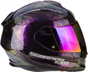 CASCO MOTO INTEGRALE SCORPION EXO-510 AIR FANTASY CHAMELEON BLACK