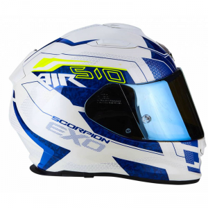 CASCO MOTO INTEGRALE SCORPION EXO-510 AIR GALVA PEARL WHITE BLU