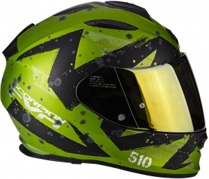 CASCO MOTO INTEGRALE SCORPION EXO-510 AIR MARCUS MATT GREEN BLACK