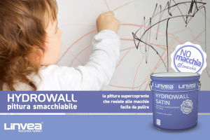 Smalto murale Super-Smacchiabile Hydrowall LINVEA