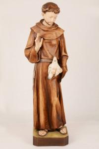 Statua San Francesco in Resina DOL h. 80