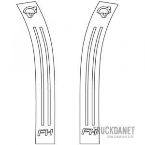 VOLVO Montanti parafanghi anteriori con decorazione Freccia
