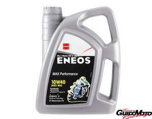 Olio Eneos 10 W 40 sintetico 100% 4 Litri moto 4T