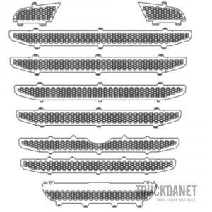 SCANIA Mascherina disegno Nido d'ape (per paraurti alto con sensore)