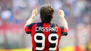 2010-11 Ac Milan Maglia #99 Cassano Home XL
