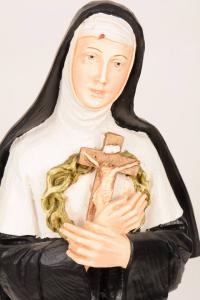 Statua Santa Rita in resina h. 50 PASQ901
