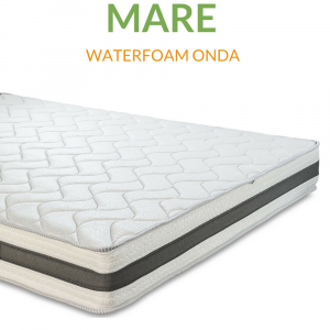 Materasso Waterfoam Ecologico tessuto Sfoderabile Ortopedico H20 | Mare |Prezzi a partire da