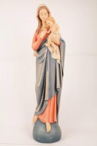 Statua Madonna con Bambino in Vetroresina DOLH80 h. 80