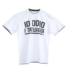 Oversized T-shirt with contrasting edges IO ODIO I TATUAGGI Oversize