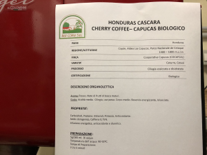 CAFFÈ' VERDE HONDURAS CASCARA - CHERRY COFFEE