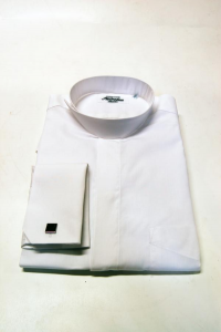 Camicia sacerdote modello Treviso – Manica Lunga - Polsino per gemelli