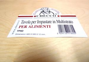 TAVOLA PER IMPASTARE IN  MULTISTRATO DI BETULLA 600X510X12MM
