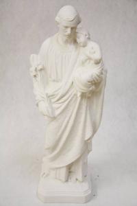 Statua Giuseppe con Bambino in Polvere di Marmo DEC373-50