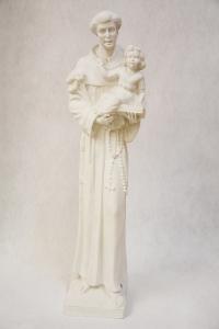Statua Sant'Antonio in polvere di marmo cm 80