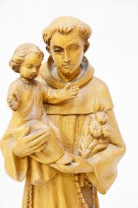 Statua Sant'Antonio in legno VALGSA40 h. 40