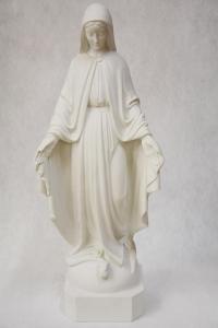 Statua Madonna Miracolosa in polvere di marmo DEC130-62