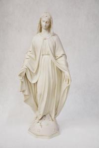 Statua Madonna Miracolosa in Resina Bianca SIM